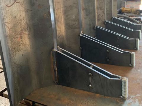 Изготовление кронштейнов для подачи цемента из стали марки СТ3 толщиной 5 мм