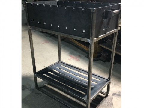 Металлообработка жаропрочной стали для изготовления мангала