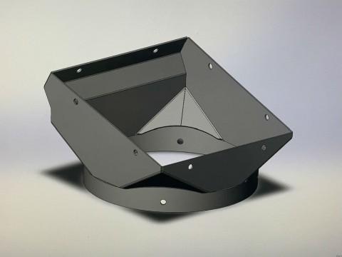 Применение лазерной гибки, резки и сварки при изготовлении переходника из стали марки СТ3 для зерновой машины