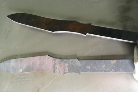 Лазерная резка броневой стали (спецсталь) для производства ножей для спецназа