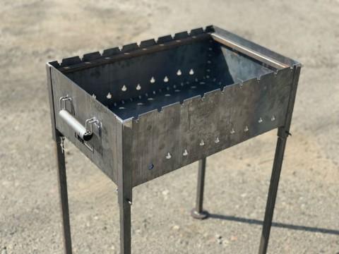 Лазерная резка и сварка жаропрочной стали толщиной 3мм для производства мангала со съемными ножками в специализированной киевской компании LaserCWM