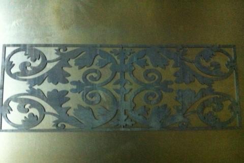 Декоративная панель из стали