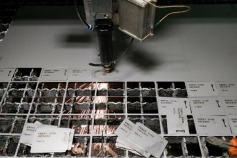 Лазерная резка нержавеющей стали для производства визиток в компании LaserCWM - 15-2019
