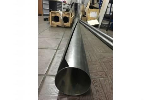 Резка фасонных отверстий в трубах из нержавеющей стали лазером