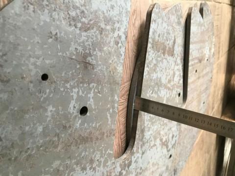 Лазерная резка металлического основания из специальной стали толщиной 12мм в киевской компании LaserCWM на заказ