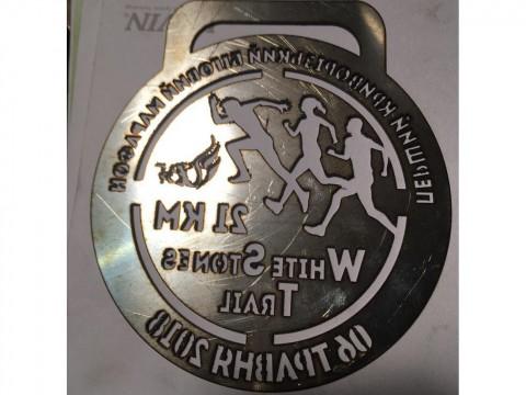 Лазерная резка медалей для участников и победителей марафона из стали марки СТ3 на собственном оборудовании с ЧПУ