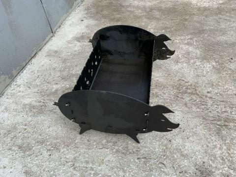 Декоративный мангал из стали марки СТ3 толщиной 3мм изготовленный с применением лазерной резки