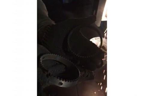 Лазерная резка труб из нержавеющей стали для изготовления шестерни