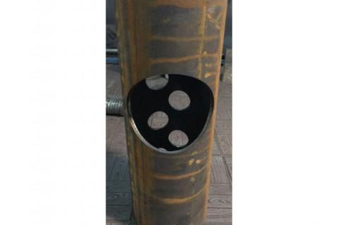 Резка труб из углеродистой стали для изготовления элемента теплового котла