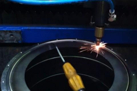Лазерная сварка деталей. Приварка фланца к корпусу детали